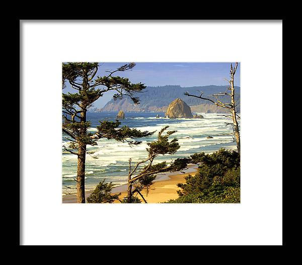 Ocean Framed Print featuring the photograph Oregon Coast 15 by Marty Koch