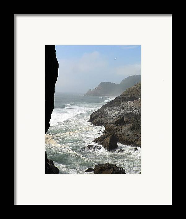 Pacific Framed Print featuring the photograph Oregon Coast by Larry Keahey