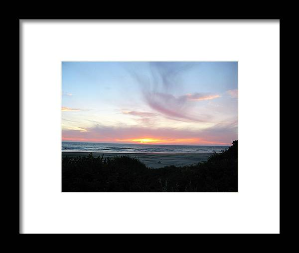 Nature Framed Print featuring the photograph Oregon Coast Sunset by Mirinda Kossoff