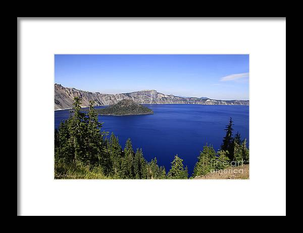 Oregon Framed Print featuring the photograph Oregons Crater Lake by Larry Keahey