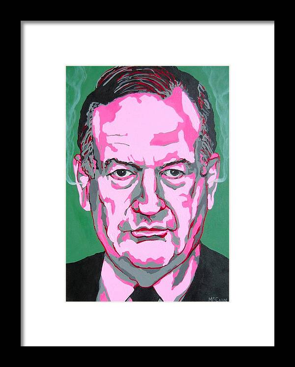 Politics Framed Print featuring the painting Oreilly by Dennis McCann