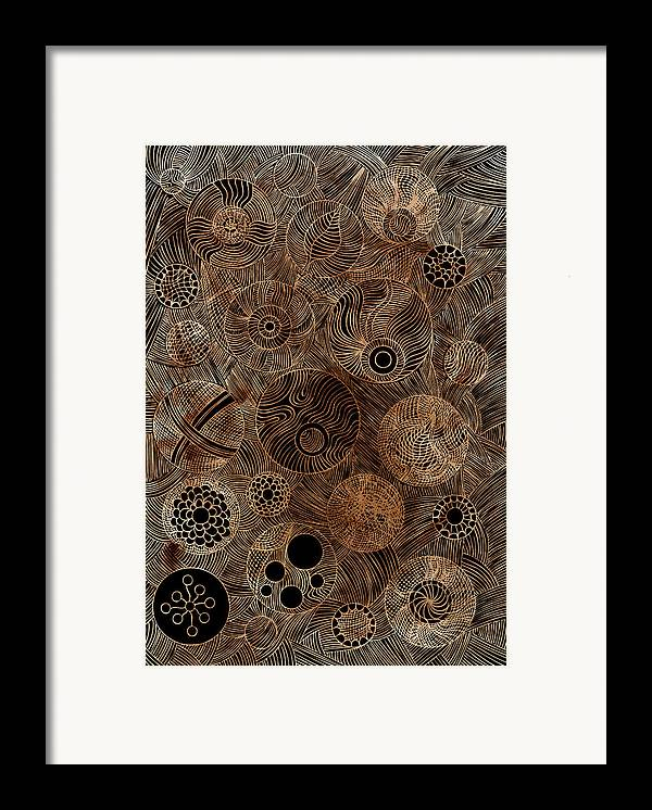 Frank Tschakert Framed Print featuring the painting Organic Forms by Frank Tschakert