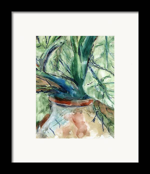 Plant Framed Print featuring the painting Organic by Marilyn Barton