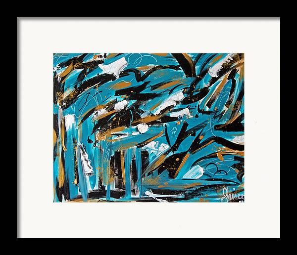 Abstract Paintings Framed Print featuring the painting Organized Confusion by Shiree Gilmore