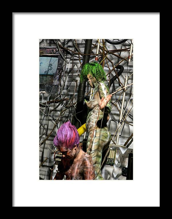 Paint Framed Print featuring the painting Orgomechanic Deirdreellanor by Leigh Odom