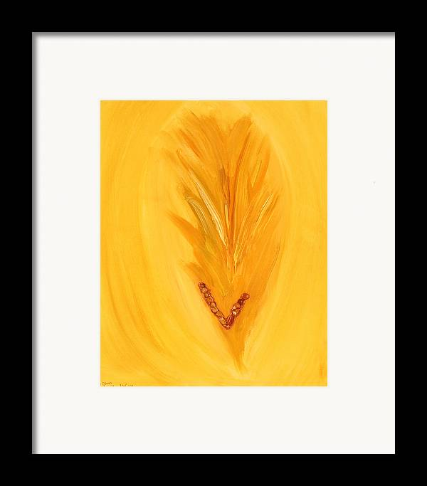Abstract Framed Print featuring the mixed media Ori An Ah by Emerald GreenForest