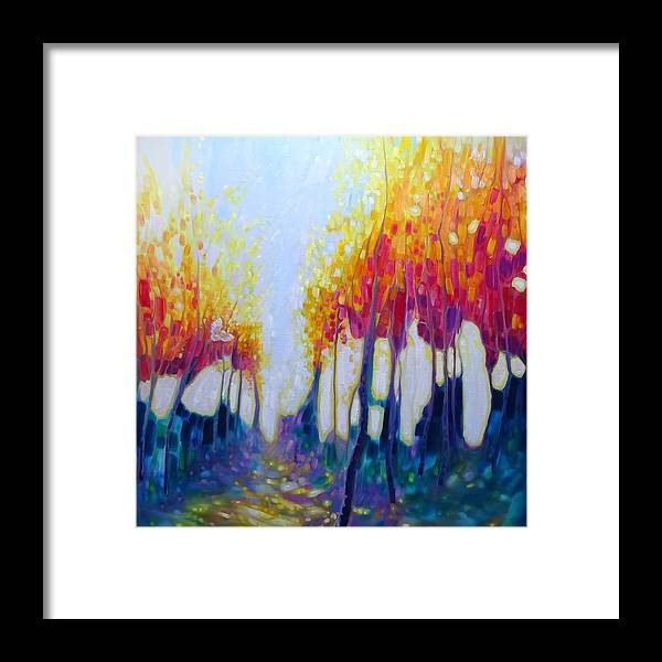 74fa1712a Large Artworks For Sale Framed Print featuring the painting Original Oil  Painting - The Hunter's Shimmering