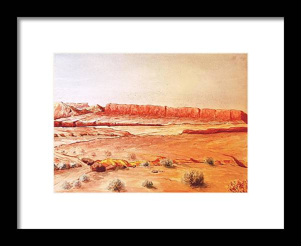 Desert Framed Print featuring the painting Original Western Artwork 21 by Smart Healthy Life