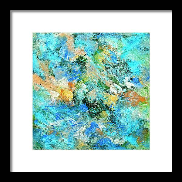 Abstract Framed Print featuring the painting Orinoco by Dominic Piperata