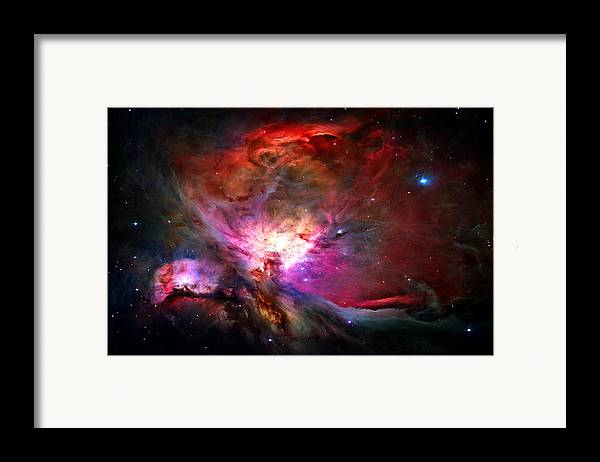Orion Nebula Framed Print featuring the photograph Orion Nebula by Michael Tompsett