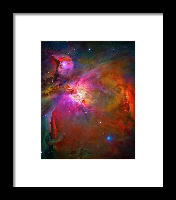 Orion Nebula Framed Print featuring the photograph Orion Nebula by Paul W Faust - Impressions of Light