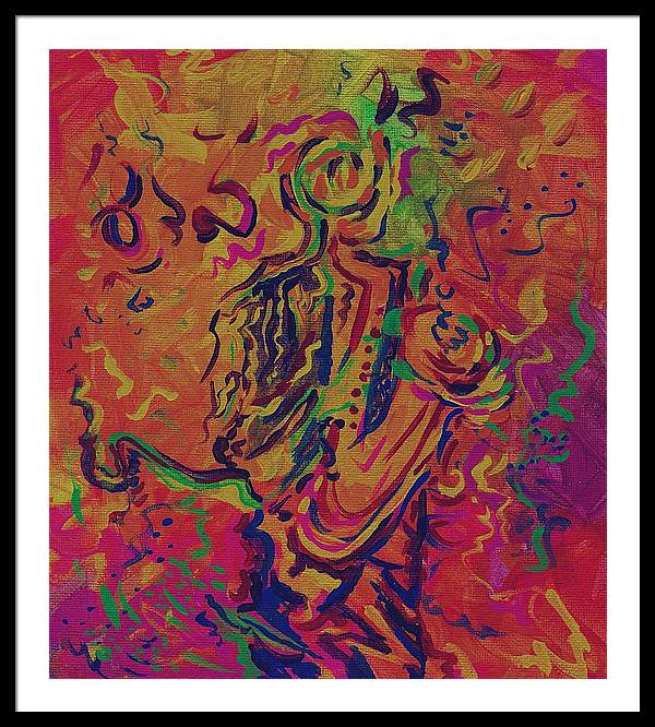 Jazz Painting Framed Print featuring the painting Orleans Heart Of Jazz by Stephanie Cox