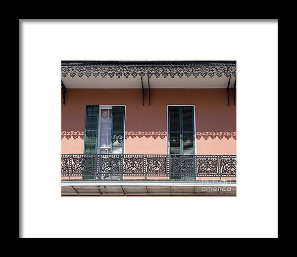 Wrought Iron Framed Print featuring the photograph Ornate Balcony In New Orleans by Louise Heusinkveld