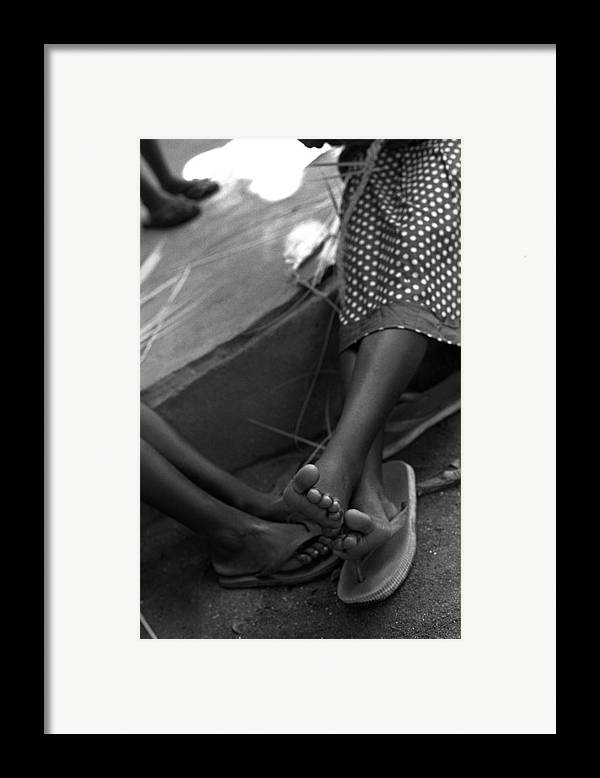 Rwanda Framed Print featuring the photograph Orphan Feet by Marcus Best