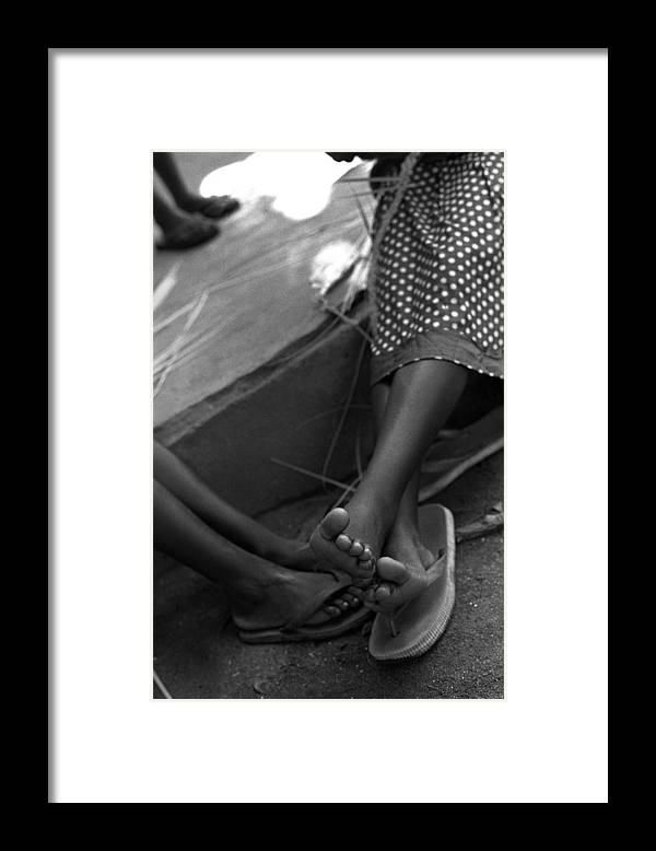 Rwanda Framed Print featuring the photograph Orphan Feet by Marcus Best