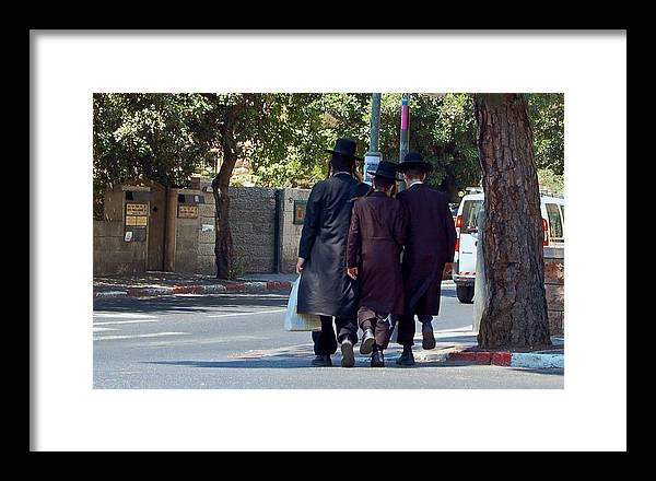 Israel Framed Print featuring the photograph Orthodox Jews In Jerusalem by Susan Heller