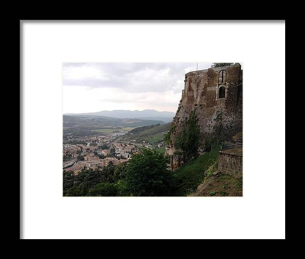 Country Framed Print featuring the photograph Orvieto Italy by Annalisa Puccinelli