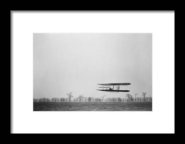 History Framed Print featuring the photograph Orville Wright 1871-1948 In Flight by Everett