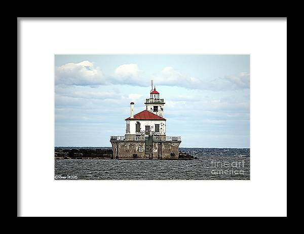 Lake Ontario Framed Print featuring the photograph Oswego NY Lighthouse by Rennae Christman