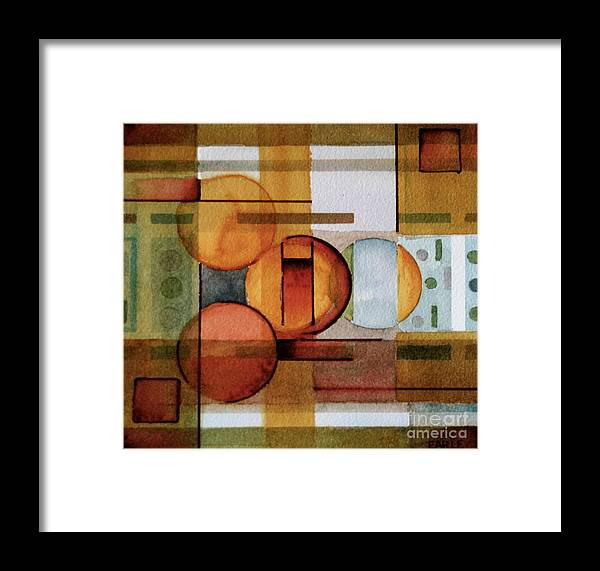 Abstract Framed Print featuring the painting Other Dimensions by Dan Earle