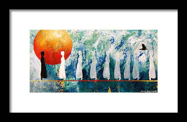 Raven Framed Print featuring the painting Other Friends Have Flown Before by Sandy Applegate