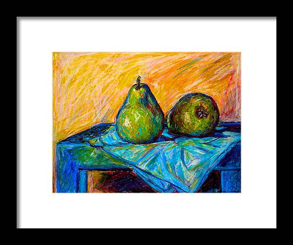 Still Life Framed Print featuring the painting Other Pears by Kendall Kessler