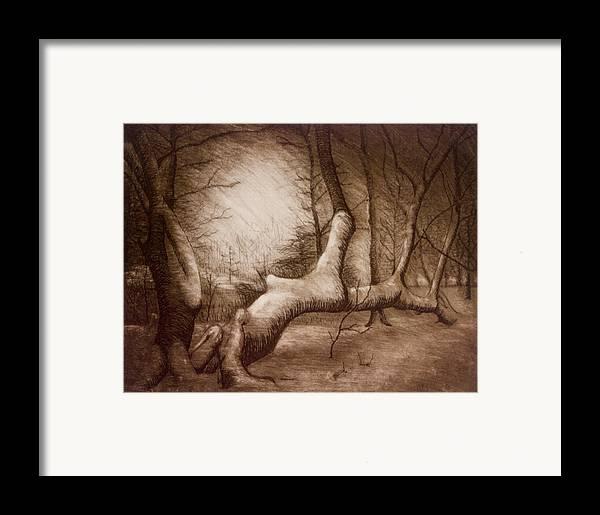 Otsiningo Park Framed Print featuring the painting Otsiningo Park Binghamton Ny by John Clum
