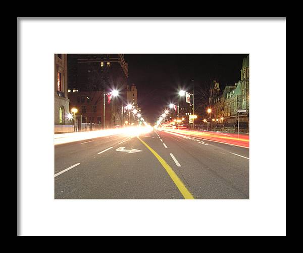 Street Framed Print featuring the photograph Ottawa Street At Night by Richard Mitchell