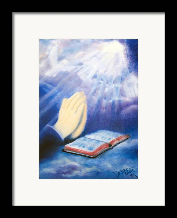 Prayer Framed Print featuring the painting Our Daily Bread by Darlene Green