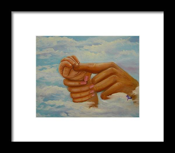 Family Framed Print featuring the painting Our Hands by Joni McPherson