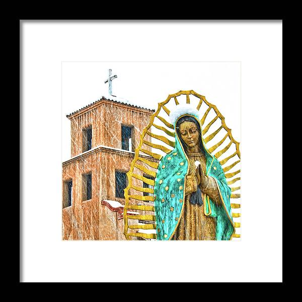 Santa Fe Framed Print featuring the photograph Our Lady Of Guadalupe by Britt Runyon