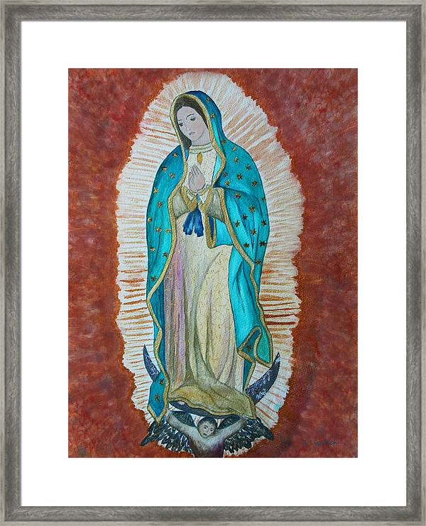 Our Lady Of Guadalupe Framed Print By Kerri Ligatich