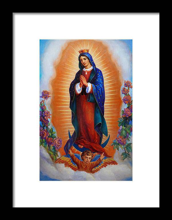 Our Lady Of Guadalupe Virgen De Guadalupe Framed Print By Svitozar