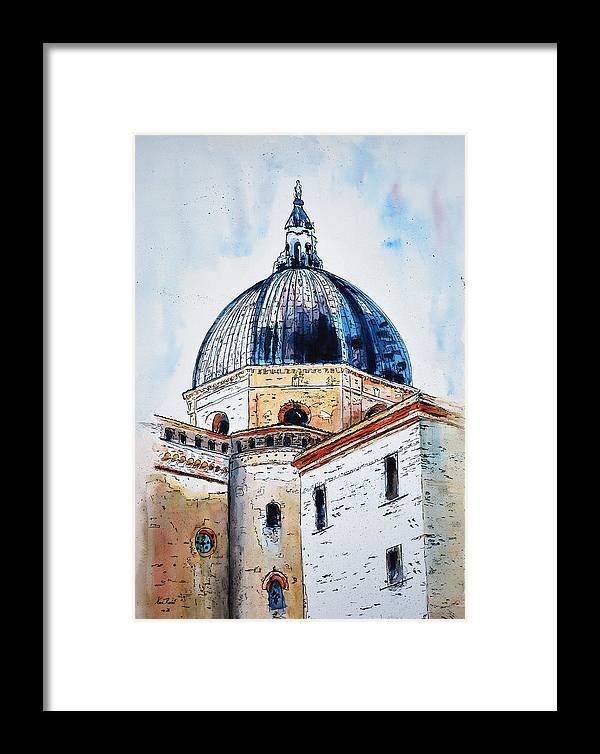 Churches Framed Print featuring the painting Our Lady Of Loreto I by Neva Rossi