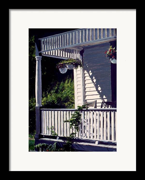 Landscape Framed Print featuring the painting Our Place by William Brody