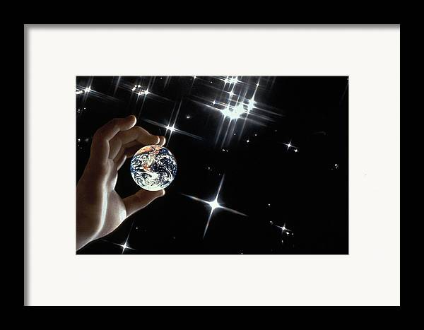 Stars Framed Print featuring the photograph Our Precious Planet by Carl Purcell