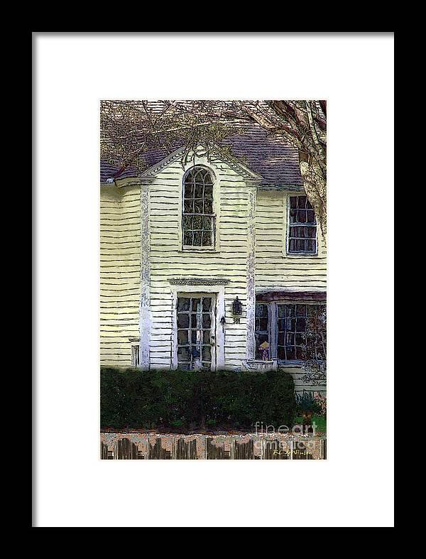 House Framed Print featuring the painting Our Town's Witch House by RC DeWinter