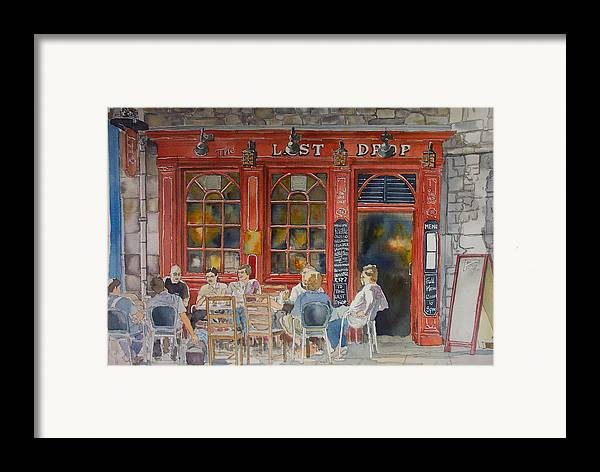 Pub Framed Print featuring the painting Out For A Pint by Victoria Heryet