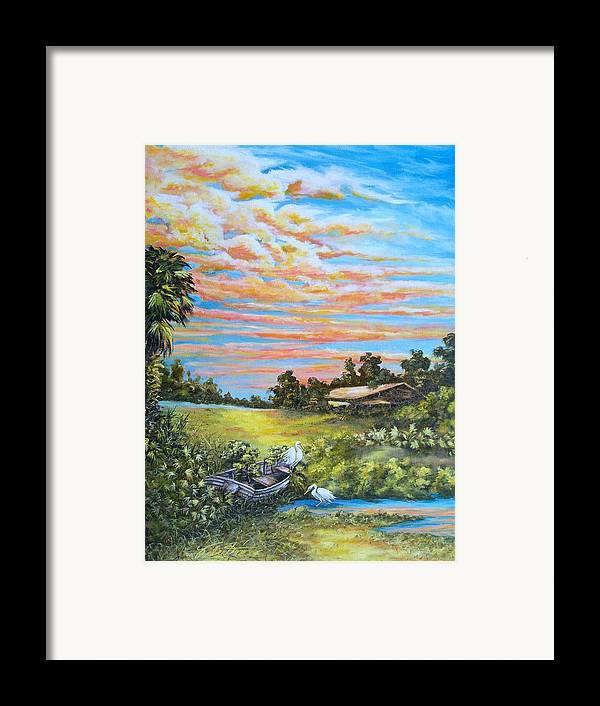 Landscape Framed Print featuring the painting Out Of Commission by Dennis Vebert