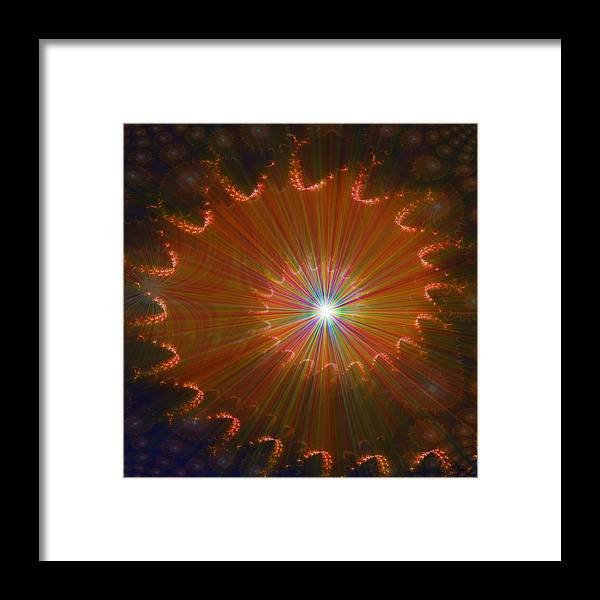 Super Nova Stars Another World Universe Abstract Spectrum Colorful Framed Print featuring the digital art Out Of Control by Andrea Lawrence