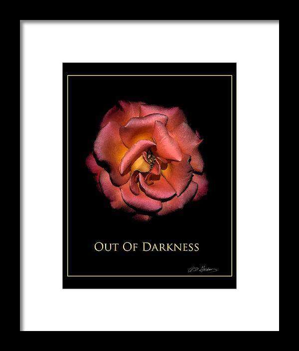 Framed Print featuring the photograph Out Of Darkness by Richard Gordon