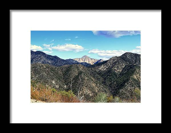 Mountains Framed Print featuring the photograph Out Of The Shadows - Angeles Crest Highway by Glenn McCarthy Art and Photography