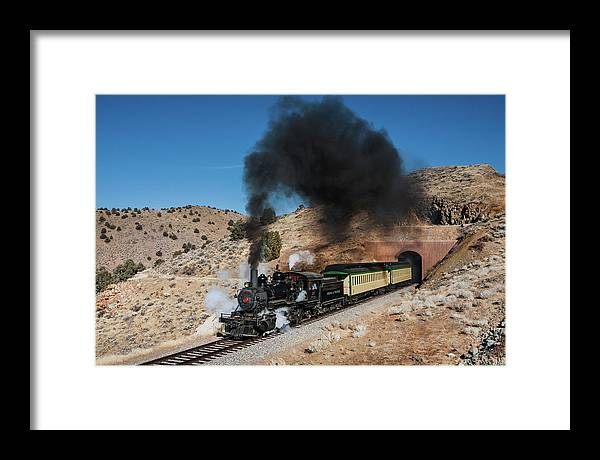 V&t Framed Print featuring the photograph Out Of The Tunnel by Peter Crook