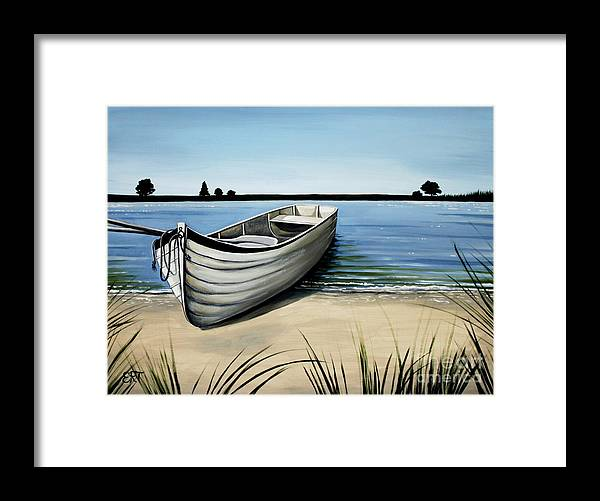 Boat Framed Print featuring the painting Out On The Water by Elizabeth Robinette Tyndall
