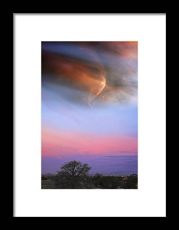 Space Framed Print featuring the photograph Out There by Burt Plotkin
