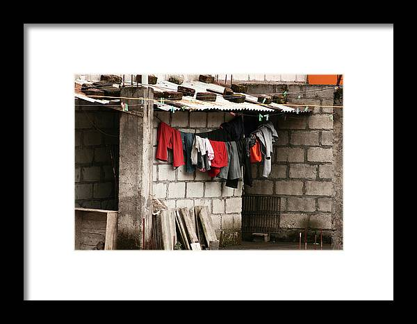 Travel Framed Print featuring the photograph Out To Dry by Alisha Robertson