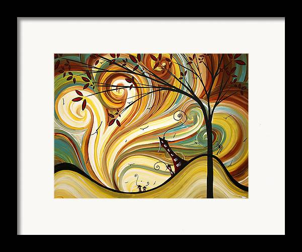 Art Framed Print featuring the painting Out West Original Madart Painting by Megan Duncanson