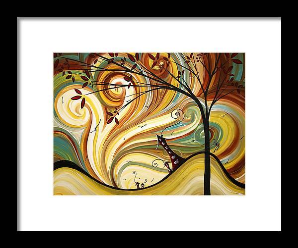 Out West Original Madart Painting Framed Print by Megan Duncanson