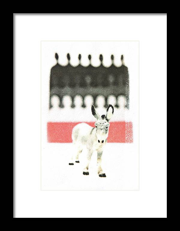 Animal Framed Print featuring the mixed media Outcast by Kimberly Lavon