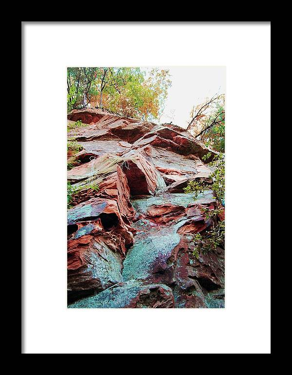 Sandstone Framed Print featuring the photograph Outcrop At Wildcat Den by Jame Hayes